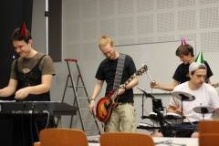 The band during rehearsals